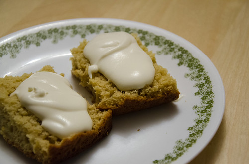 maple gingerbread with maple whipped cream