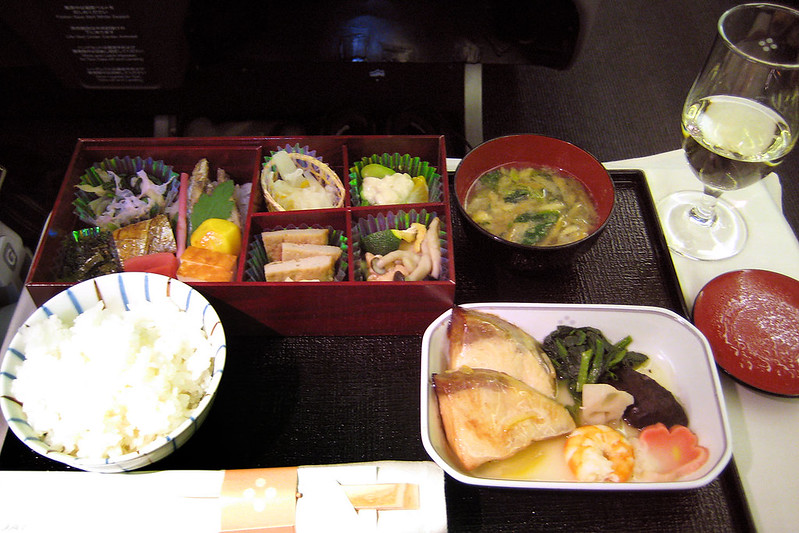Business class dinner