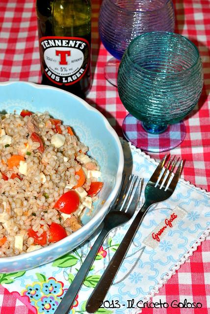 insalata di orzo mozzarella carote tonno pomodori erba cipollina (4)