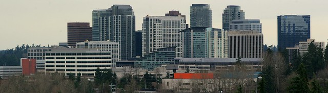 Bellevue Skyline Panorama - 5 March 2013