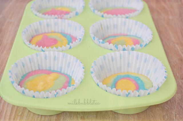 Rainbow Tray Bake Pop The Baking Tray in The