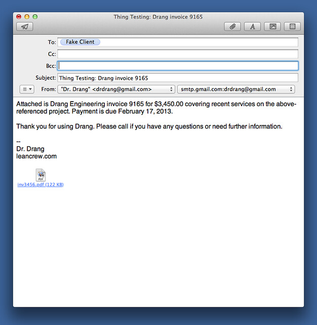 Invoice email generator redux - All this