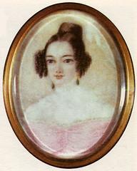 Е. А. Сушкова (в замужестве Хвостова). Неизвестный художник. 1830-е годы