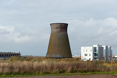 industry, cooling tower, tower, power station, nuclear power plant,
