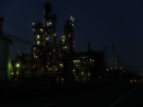 Kawasaki factory night scene 03