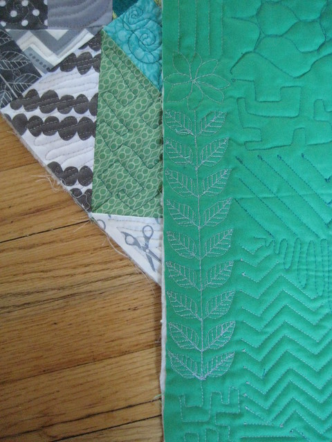 Facets Of Emerald Finished Quilt on Fill It Up By Angela Walters