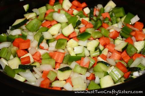 Hearty Veggie, Italian Sausage & Tortellini Soup