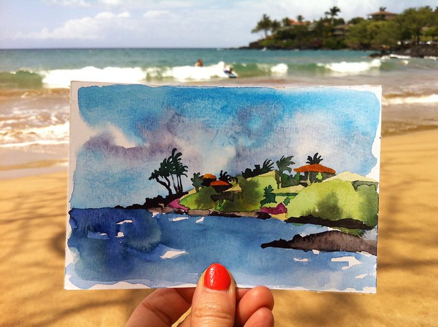 Hawaii postcard 3: Makena Landing, Maui