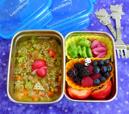 Curry Mouse and Cheese LunchBots Bento by sherimiya ♥