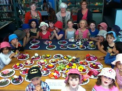 Lyttelton Garden Club autumn show - sand saucers by kids from Lyttelton Main School