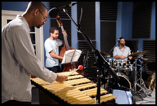 Jason Marsalis, Jasen Weaver on bass, and Stephen Gordon. by Ryan Hodgson-Rigsbee (http://rhrphoto.com/)