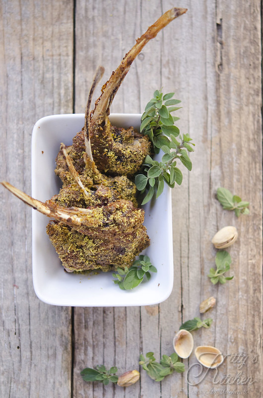 agnello in crosta di pistacchio
