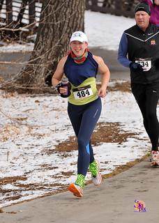 Clare Running the Ralston Creek Half Marathon