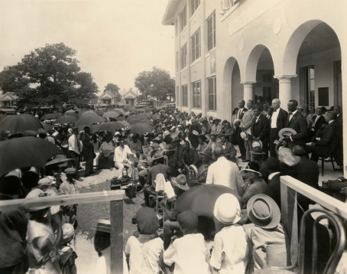 Opening ceremonies of the Houston Negro Hospital