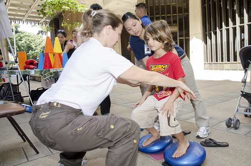 <p>Test of balance administered by students of the Physical Therapist Assistant program at Kapi'olani Community College.</p>