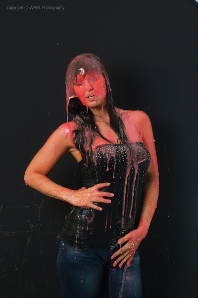 gunged in red and blue flickr photo sharing
