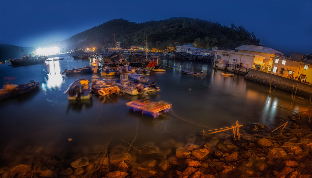 Tai O Night Boats Pano