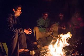 Camp Fire In A Cave