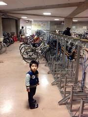 恵比寿ガーデンプレイスの駐輪場 2013/3/20