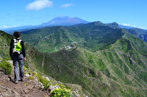 Walking in Teno Mountains, Tenerife