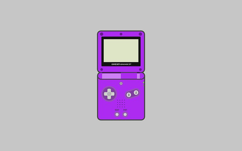 Nintendo Game Boy Advance SP wallpaper - purple