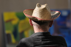clothing, yellow, fashion, hat, close-up, cowboy hat, headgear,