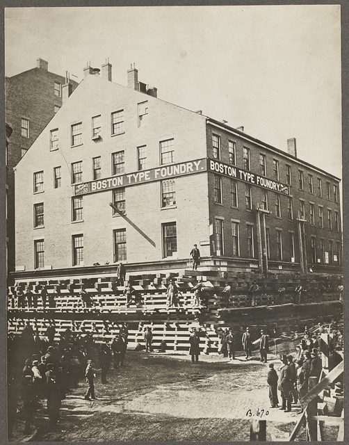 Massachusetts. Boston. Post Office Square corner of Kilby and Milk Streets