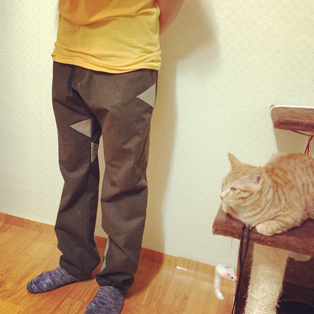 New climbing pants Prototype #climbing #climbing_pants #cayl