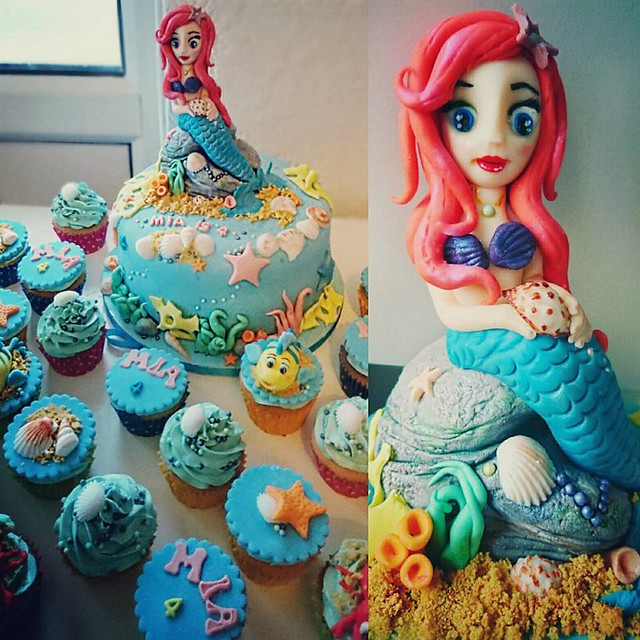 Mermaid Cake by Ash Samuels of Sugarella