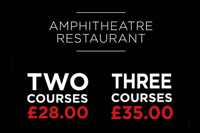 Two Courses for £28, three for £35, Amphitheatre Restaurant offer © 2016 ROH