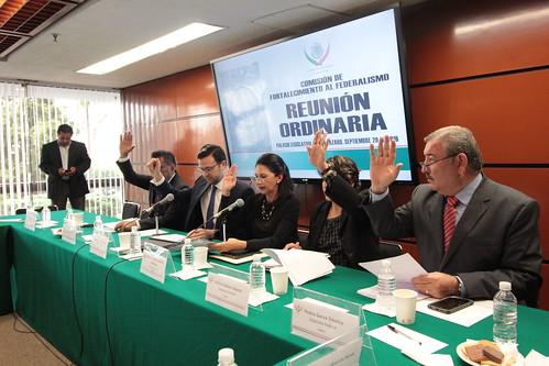 El día 29 de septiembre del 2016 se llevó a cabo en la H. Cámara de Diputados la reunión ordinaria de la Comisión de Fortalecimiento al Federalismo.