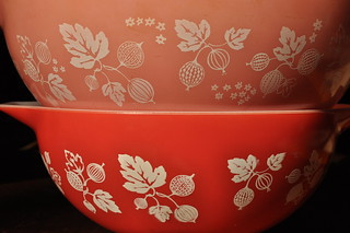 Gooseberry Cinderella Mixing Bowls - Pink/Red