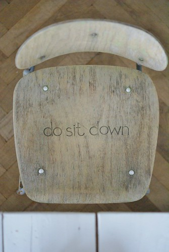 do sit down by wood & wool stool