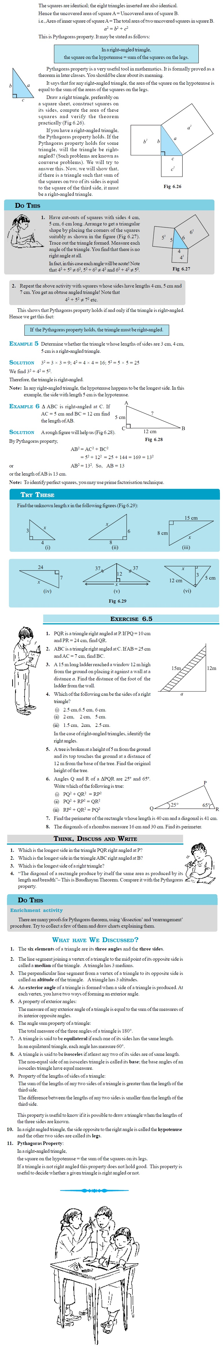 NCERT Class VII Maths Chapter 6 The Triangle and its Properties