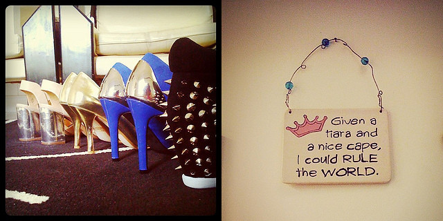 December shoes + wall art