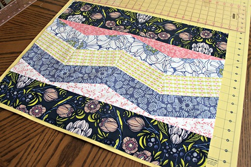 15. add border fabrics, if you can center them