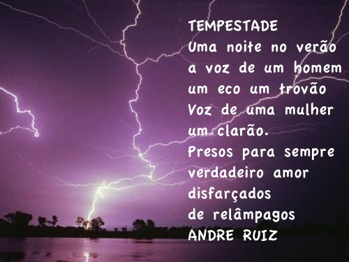 TEMPESTADE by amigos do poeta