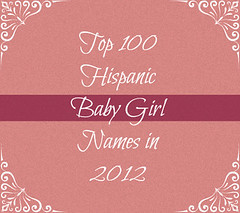 Top 100 Baby Girl Names for Latino Parents in 2012