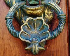 carving, art, sculpture, door knocker,