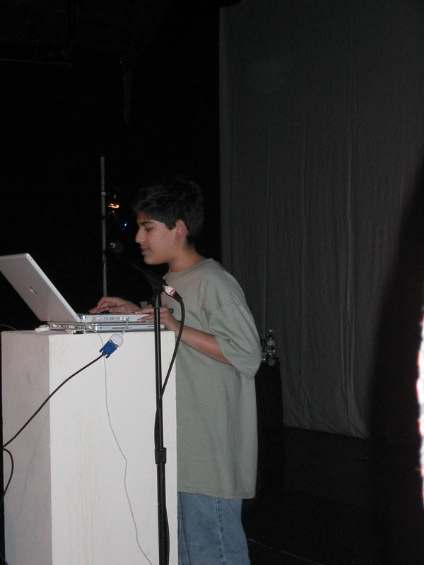 Aaron Swartz speaking at CC Launch – December 2002
