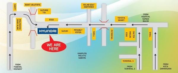 Sutera Gemilang Auto - Map