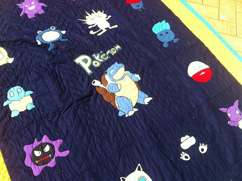Pokemon Quilt (Center view)