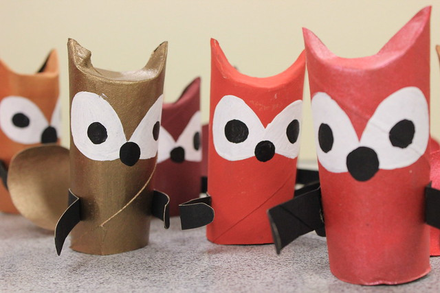 Paper Tube Foxes 2