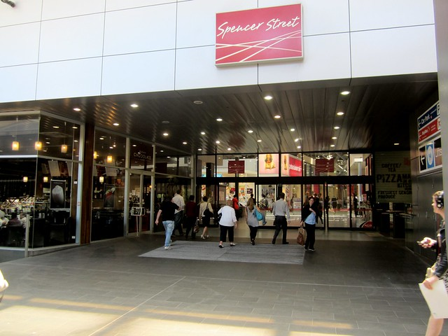 "Entrance to ""Spencer Street"" shopping centre at Southern Cross Station"