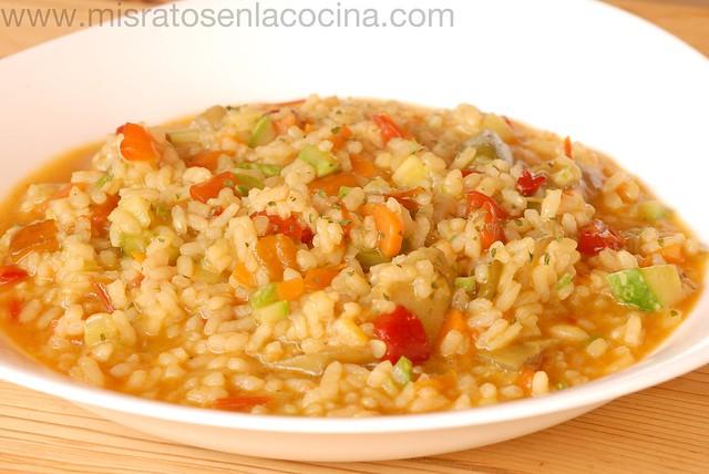 Mis ratos en la cocina arroz caldoso con verduras - Arroz caldoso con costillas y alcachofas ...
