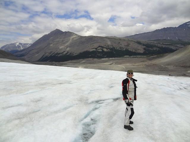 sara on columbia glacier hike