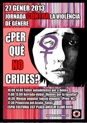 jornada contra la violència de gènere a Rubi 27 de gener 2013