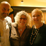 Joe Bastianich, Rita Houston and Lidia Bastianich. January 20, 2013: A night of music, food and wine to benefit WFUV Public Radio.