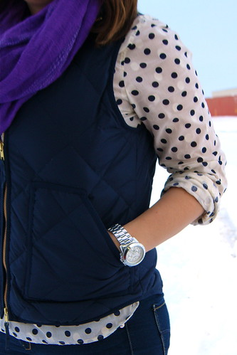 Polka Dots, Vest, Purple 2