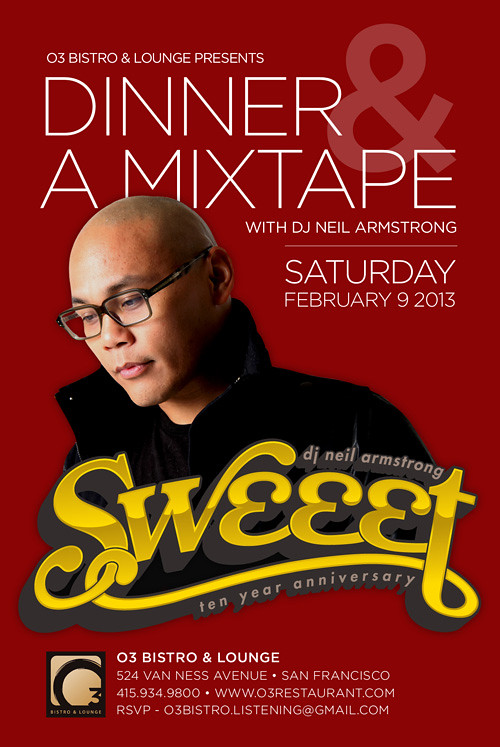 Dinner & A Mixtape - the 10 Year Anniversary of Sweeet Listening party